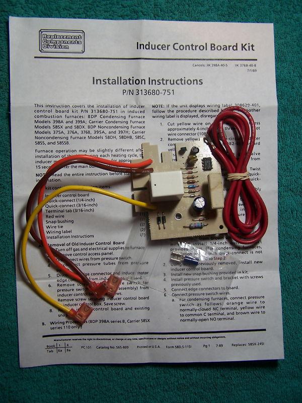 Bryant- Carrier 313680-751 OEM Inducer Board Kit