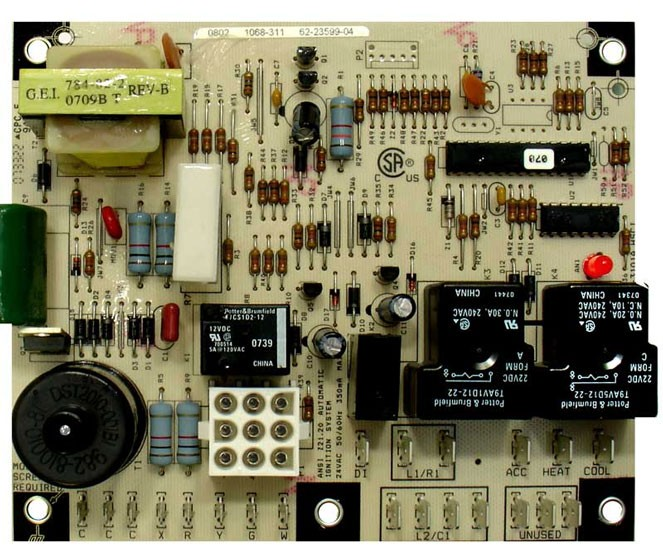 Rheem Rudd Control Board 62 23599 05 protech rheem ruud furnace control board 62 23599 05  at bayanpartner.co
