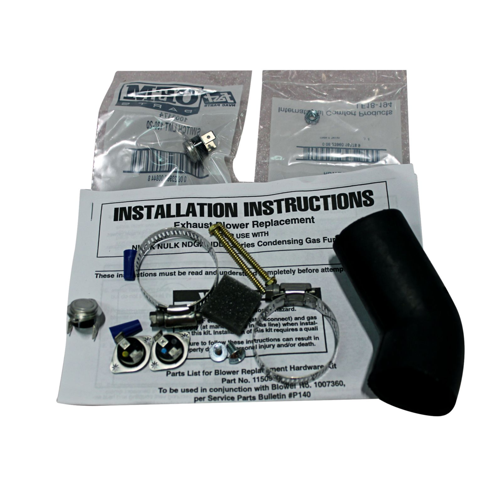 ICP Draft motor Blower vent Hardware kit # 1150984