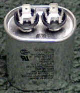 7.5 MFD 370 volts OVAL Capacitor