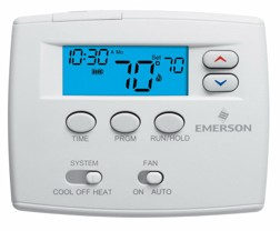 "1F80-0261 White Rodgers Blue 2"" Programmable Single stage Thermostat"