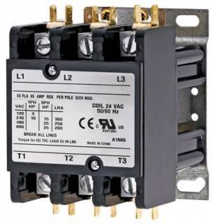 3 Pole 24 Volt 50 Amp Contactor
