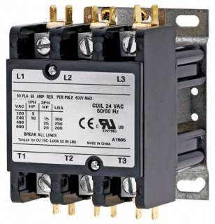 3 Pole 24 Volt 30 Amp Contactor