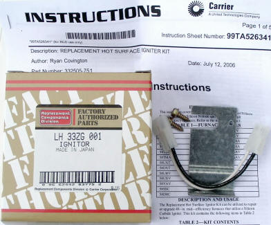 Bryant - Carrier Ignitor Kit 332505-751