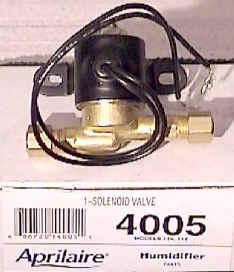 Aprilaire Water Solenoid Valve 4005